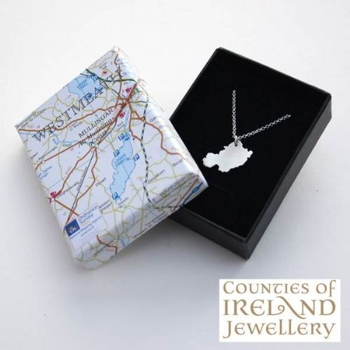 County Westmeath Map Pendant